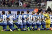 Hertha Berlin futbolcularından Trump'a tepki