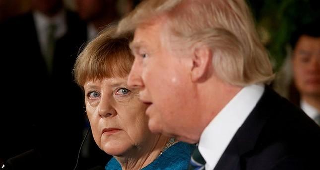 Merkel Almanya'yı tekrar duymak için Trump'ı ziyaret etti