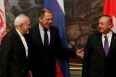 Türk, İranlı, Rus FM'leri Moskova'daki Suriye krizini tartışıyor
