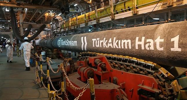 TurkStream'in ilk çizgisi Türkiye'nin Karadeniz kıyısına ulaştı