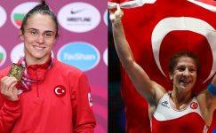 İki Türk kadın güreşçi Avrupa Şampiyonasında altın madalya kazandı