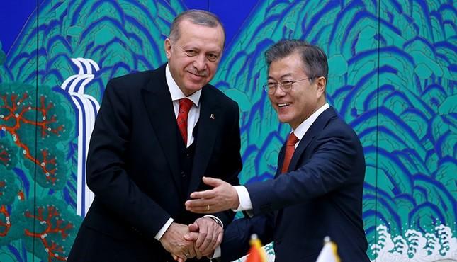Erdoğan, ikili zirvede Güney Kore ile ilişkileri ilerletmeyi kabul etti