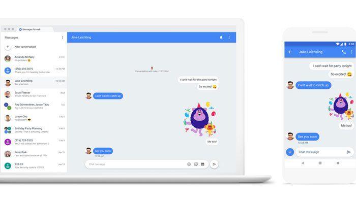 Google, Android kullanıcılarının masaüstü bilgisayardan mesaj göndermesine olanak tanır