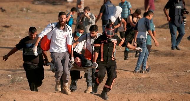 İsrail ateşiyle 2 Filistinli protestocu hayatını kaybetti