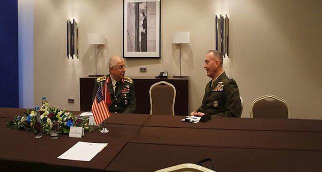 Güler, ABD General Dunford askeri ilişkileri tartışıyor