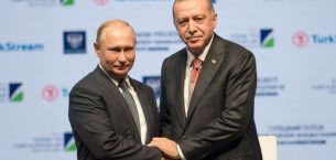 Erdoğan, Putin, İstanbul'da TurkStream deniz bölümü bitirme törenine katıldı