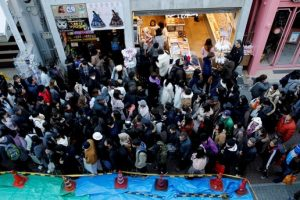 Tokyo'daki Yeni Yıl eğlencelerine araba çarpması sonucu 9 kişi yaralandı