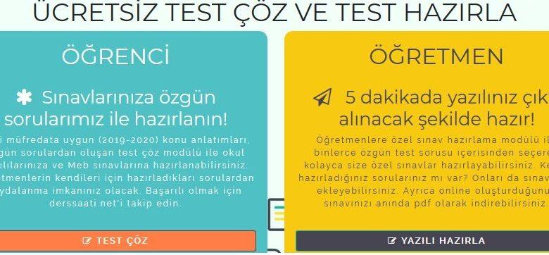 Online Test Hazırlama Kolaylığı
